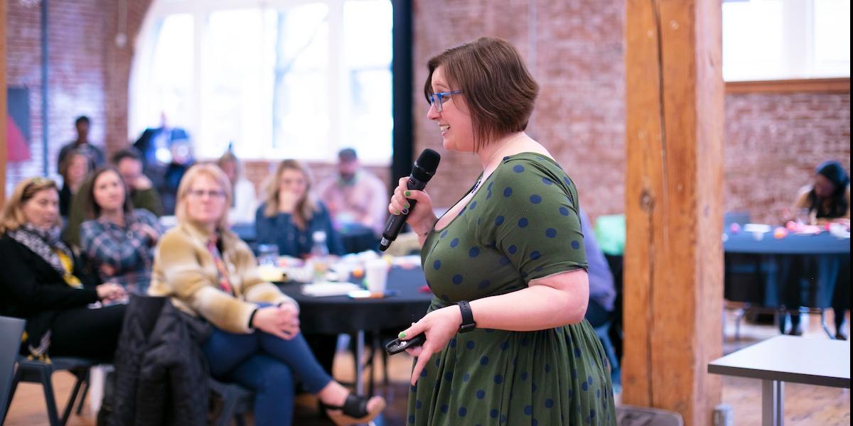 Liz Gross presenting